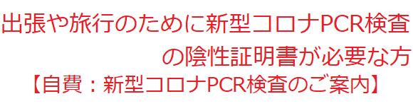 自費PCR検査